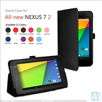 stand leather cover case for GOOGLE NEXUS 7 ii