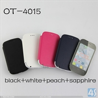 Leather Phone Case for Alcatel OT-4015
