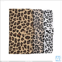 Leopard PU Leather Wallet Stand Cover Case for SAMSUNG Galaxy S6 Edge Plus /N925