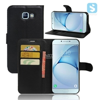 Litchi PU Leather Wallet Case for SAMSUNG A8 (2016