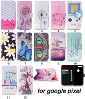 Printed PU Leather Case for GOOGLE Pixel (X,5.0)(2016)