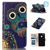 Printed PU Leather Wallet Case for HUAWEI P10 lite