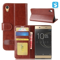 Crazy Horse PU Leather Wallet Case for SONY XPERIA XA1