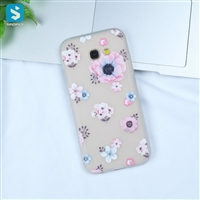white Matte emboss TPU phone case for Samsung Galaxy A5(2017)