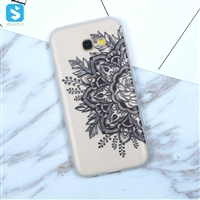 White Matte lace printing TPU phone case for Samsung Galaxy A5 (2017)