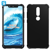 Alpha grain TPU shockproof phone case for Nokia 5.1 Plus(2018 X5)
