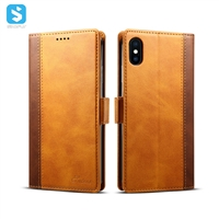 Cowhide lines leather case for iphone XS MAX