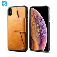 Cowhide lines leather back cover for iphone XS MAX