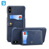 Cowhide grain stand leather case for iphone XS MAX