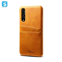 Cowhide lines insert card case for Huawei P20 pro