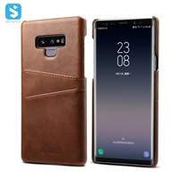 Cowhide lines insert card case for Samsung Galaxy Note 9