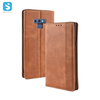 Retro style PU leather case for Samsung Galaxy Note 9