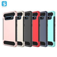 TPU PC carbon case for Samsung Galaxy S10 Plus