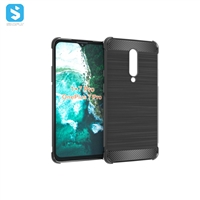 Carbon Fiber TPU clear phone case for One Plus 7 Pro