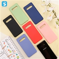2mm TPU liquid silicone phone case for samsung Galaxy S10