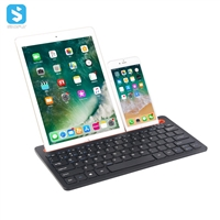 Slim portable wireless keyboard with lithium battery