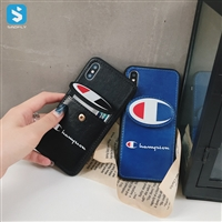 TPU Leather PU skin champion phone case for iphone x