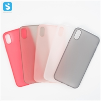 0.4mm thin Matte TPU phone case for iPhone XS