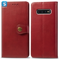 Crazy Horse TPU PU leather phone case for Samsung Galaxy S10