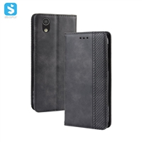 magnetic TPU PU leather phone case for Aquos sense