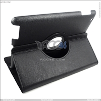 Rotatable 360 degree Litchi pattern Leather case for iPAD 3