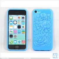 Rose Pattern TPU Back Phone Case for iPhone 5C