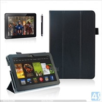 3 folding pu leather case for  AMAZON Kindle Fire HDX 7
