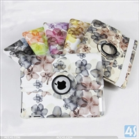 Flowers Leather Cover Case for iPad 2/3/4