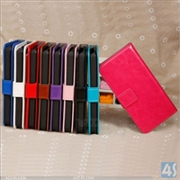 Leather Wallet Stand Case for Apple iPhone 5C