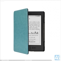 Leather Flip Case for Amazon Kindle 4