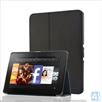 Back Stand Leather Case for Kindle Fire HDX 7