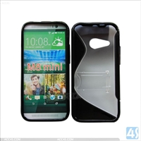 TPU PC Hybrid Stand Case for HTC One M8 Mini