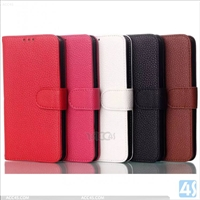 Leather Wallet Stand Case for LG G3