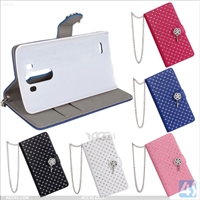 Bling Leather Wallet Case for LG G3