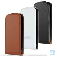 Genuine Leather Flip Case for HTC M8 Mini