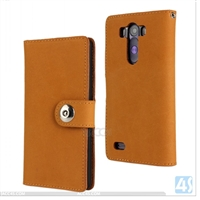 Genuine Leather Wallet Case for LG G3