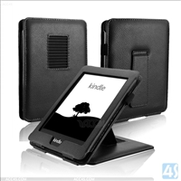 Stand Leather Case for Amazon Kindle with touch 2014