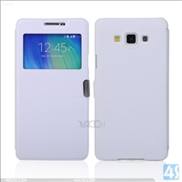 Window Leather Case for Samsung Galaxy A7(SM-A700FD)