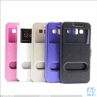 Window Leather Case for Samsung Galaxy E5(SM-E500F)