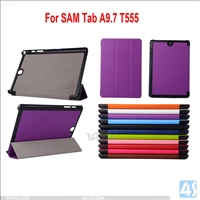 Three Folding Leather Case for Samsung Galaxy Tab A T555 TABA