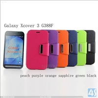 Leather Flip Case for Samsung Galaxy Xcover 3/G388F