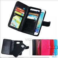 Multi-functional Leather Wallet Case for Samsung Galaxy S6 Edge