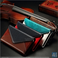 Genuine Leather Wallet Case for Samsung Galaxy S6 Edge