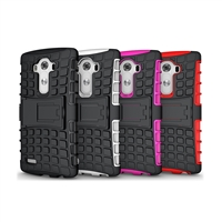 PC Silicone Stand Hard Case for LG G4