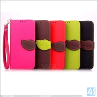 Leather Wallet Case for Samsung Galaxy E5(SM-E500F)