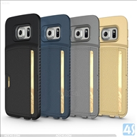 Card Holder Protective Case for Samsung Galaxy S6 Edge
