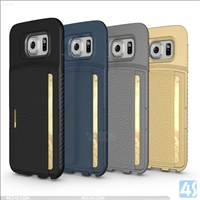 Card Holder Back Case for Samsung Galaxy S6(SM-G925F)