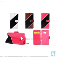 Bicolor Wallet PU leather case for samsung galaxy s6