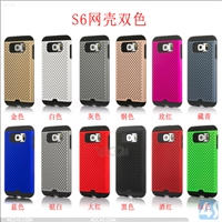 Net PC TPU 2in1 cover case for SAMSUNG Galaxy S6 / SM-G925F