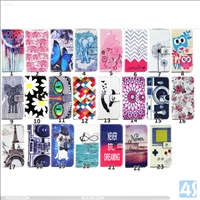 Printing wallet PU leather case for samsung A8